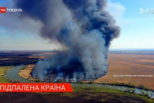 Из-за поджигателей сухой травы Украина в буквальном смысле пылает