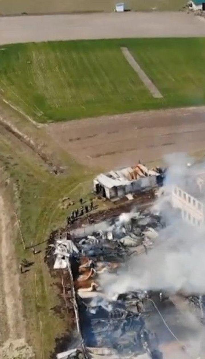 У Рівненьській області через займання бочок з пальним, почалась пожежа у монастирі