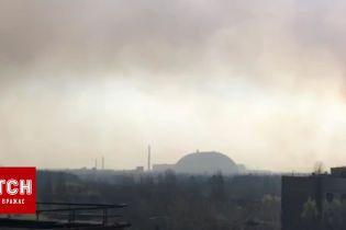 Пожар в Чернобыльской зоне сняли с Припяти
