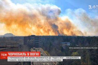 """Вогонь у Чорнобильській зоні підходить до так званого """"Рудого лісу"""" - сталкери"""