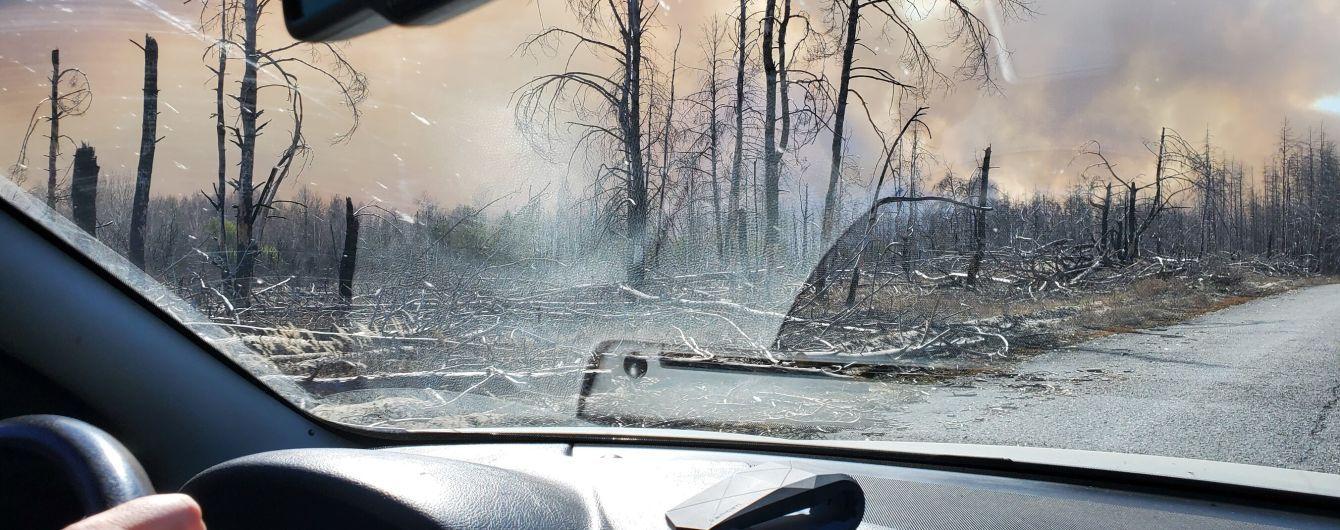 Лесные пожары в Чернобыльской зоне: огонь приблизился к хранилищу радиационных отходов