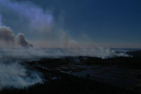 Нова пожежа у Чорнобильскій зоні: рятувальники досі працюють над ліквідацією загоряння