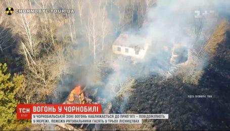 Чернобыльскую станцию затянуло дымом и появились новые очаги огня