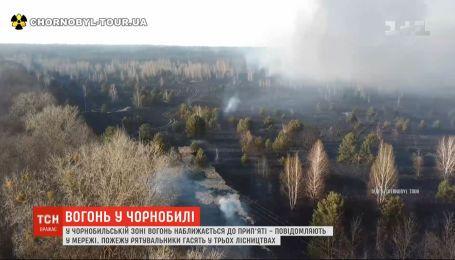 Один рятувальник зазнав травм під час гасіння пожежі у Чорнобильській зоні