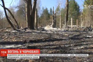 Відкритого вогню вже немає, але деякі ділянки Чорнобильської зони ще тліють