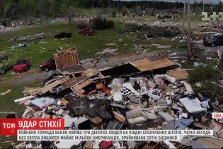 Разрушительные торнадо оставили без света почти миллион американцев