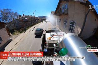 Тотальний захист: у Львівській області місто дезінфікують за допомогою снігової гармати
