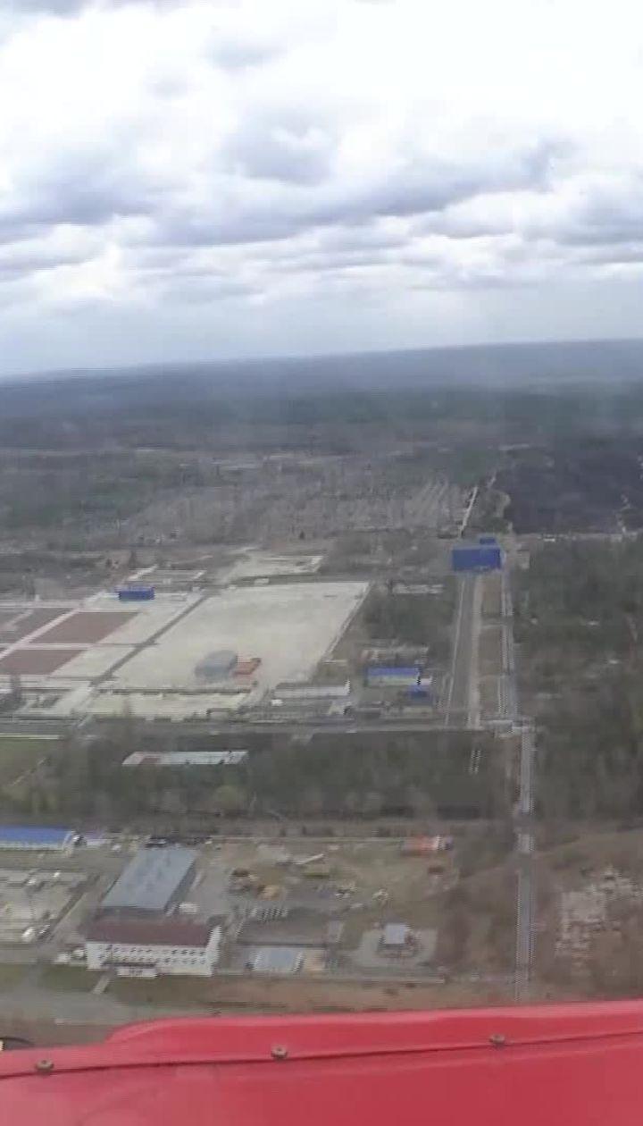 ТСН зафільмувала з висоти, який вигляд має Чорнобильська зона після пожежі