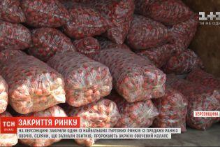 Один из крупнейших оптовых рынков по продаже ранних овощей закрыли в Херсонской области