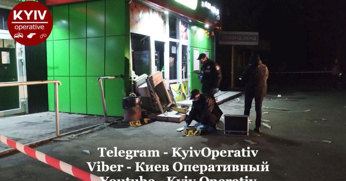 На столичній Борщагівці підірвали банкомат