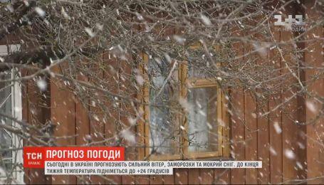 Синоптики прогнозируют сильный ветер, заморозки и мокрый снег в Украине