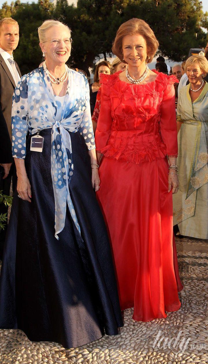 Королева Маргрете II і королева Іспанії Софія