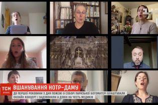 Французькі артисти влаштували онлайн-концерт до першої роковини пожежі в Нотр-Дамі