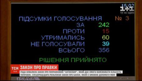 Верховна Рада ухвалила закон, який дозволяє обмежувати кількість правок