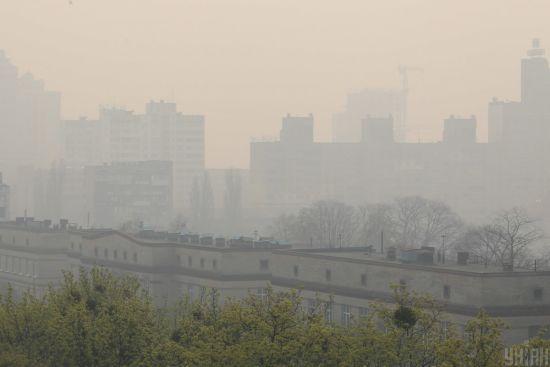 Столицяу диму: рівень забруднення повітря у Києві різко підскочив