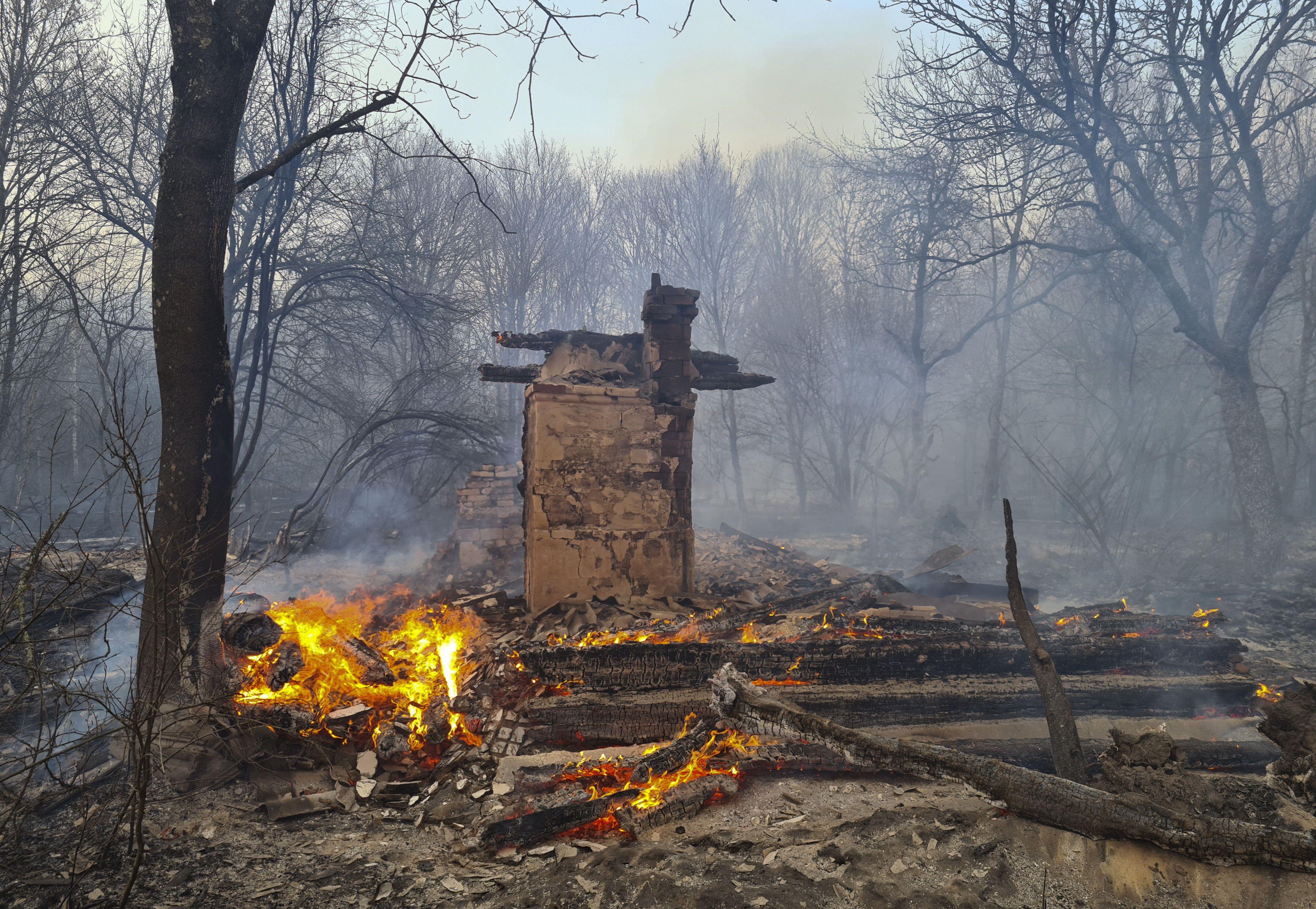 Пожежа у Чорнобильські зоні