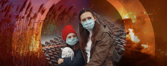 Хроніки апокаліпсису: пекельні пожежі у Чорнобилі, вигорілі села, забруднення повітря у Києві та жахлива смерть бобра