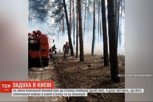 Столиця в диму: за даними ДСНС смогу у Києві здійнявся через пожежу
