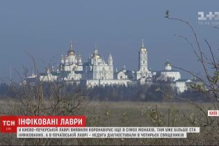 В Киево-Печерской лавре обнаружили еще 7 случаев заражения коронавирусом