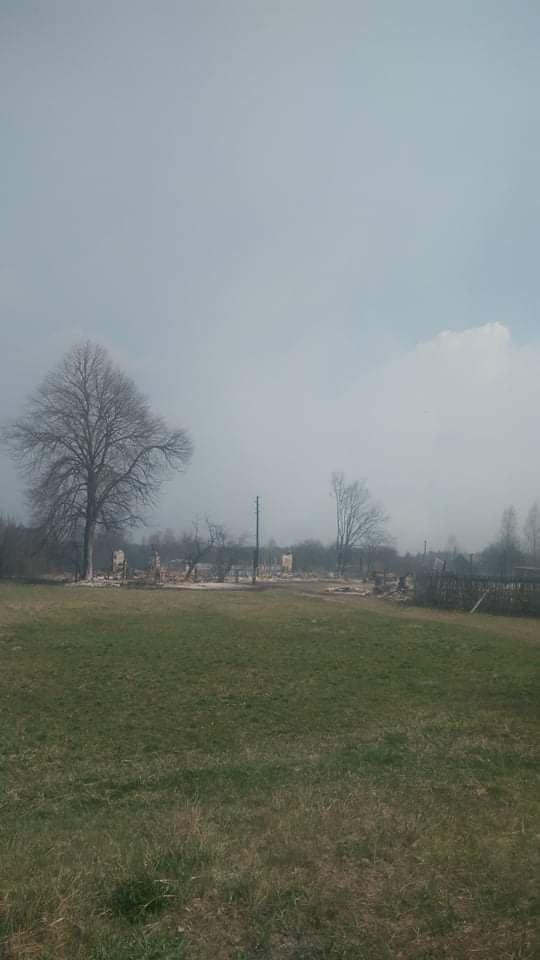 Наслідки пожежі у Житомирській області, село Личмани_1