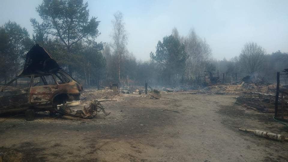 Наслідки пожежі у Житомирській області, село Личмани_4