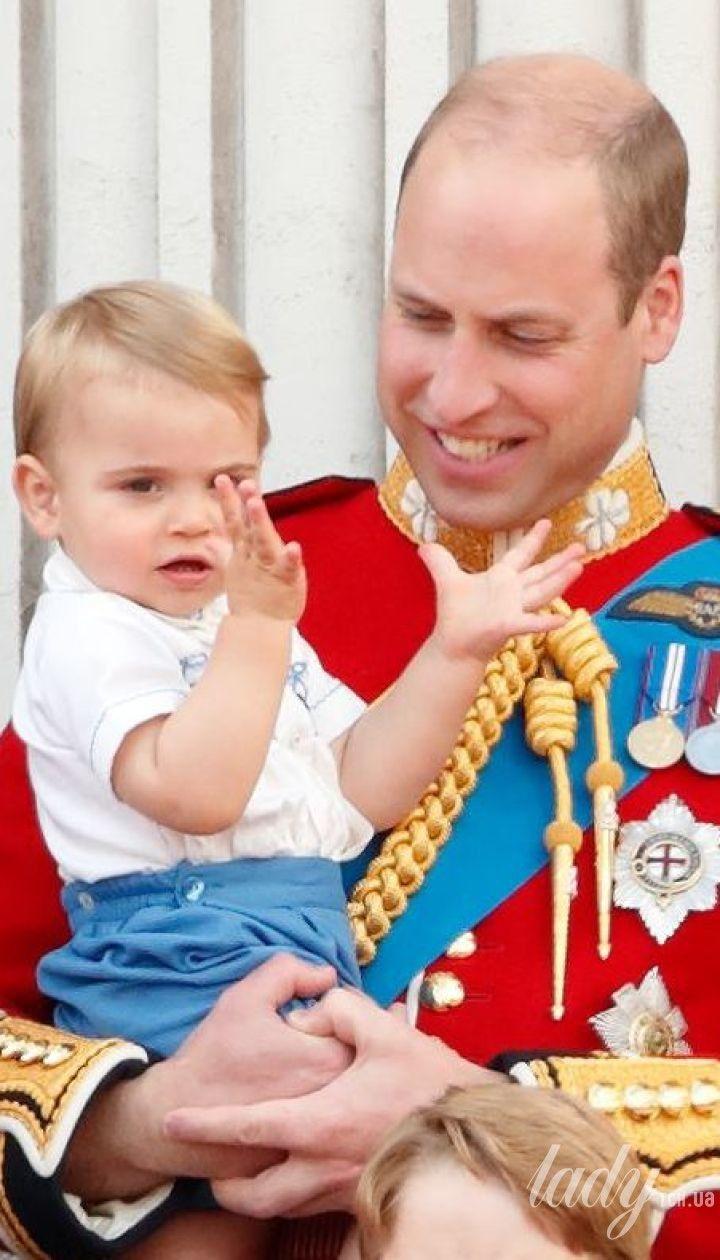 Принц Луи и его мама герцогиня Кэтрин и папа принц Уильям