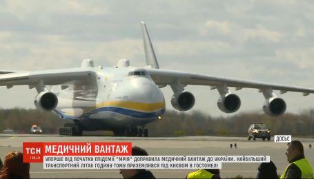 """Літак """"Мрія"""" вперше від початку епідемії коронавірусу доправив медичний вантаж в Україну"""