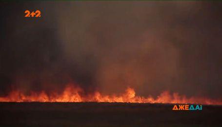 В Польше горит национальный парк через фермеров, сжигали траву