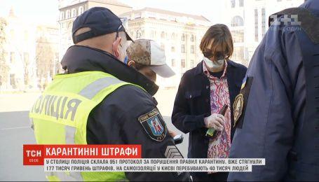 Почти 180 тысяч гривен штрафов взыскали в столице за нарушение правил карантина