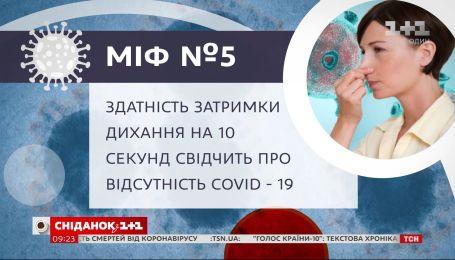 Чи свідчить здатність затримки дихання на 10 секунд про відсутність COVID–19 – Міфи про коронавірус