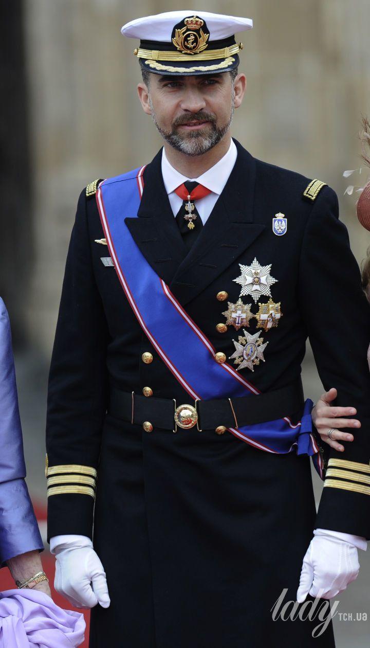 Королева София, принц Фелипе и его супруга Летиция