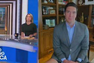 Журналіст США отримав світову славу після проведеного ефіру без штанів