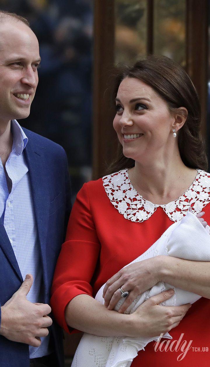 Герцогиня Кембриджська та принц Вільям з сином Луї