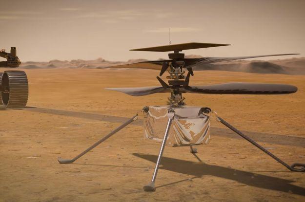 Вперше в історії людства: над поверхнею Марса пролетів гелікоптер (відео)