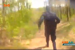В Кропивницком гонщик, убегая от копов, попытался скрыться в трубе