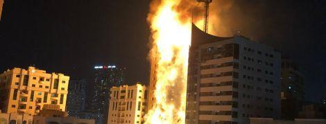 В ОАЭ горел весь 48-этажный небоскреб: детали о масштабном пожаре, фото и видео