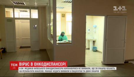 У 84 работников столичного онкодиспансера не обнаружили коронавирус