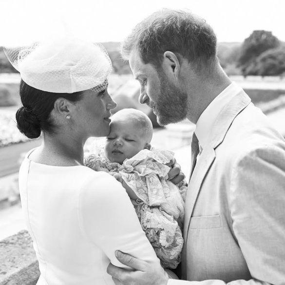 Герцогиня Меган и принц Гарри с сыном Арчи