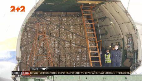 Украинский Ан-225 доставил в Украину партию медицинского груза