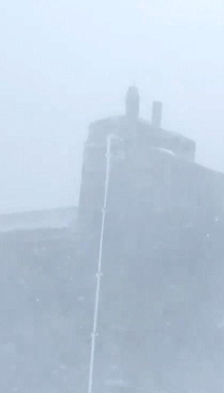 15-сантиметровий шар снігу намело на горі Піп Іван у Карпатах