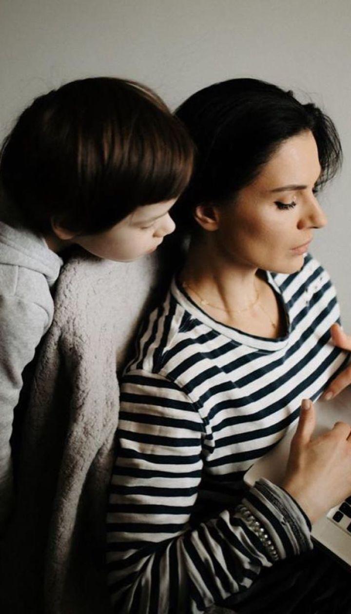 Маша Ефросинина с сыном Александром