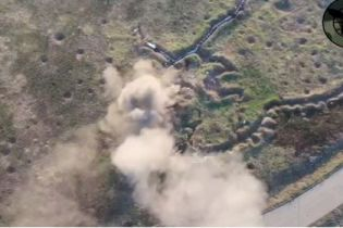 Военные показали момент уничтожения позиции российских наемников