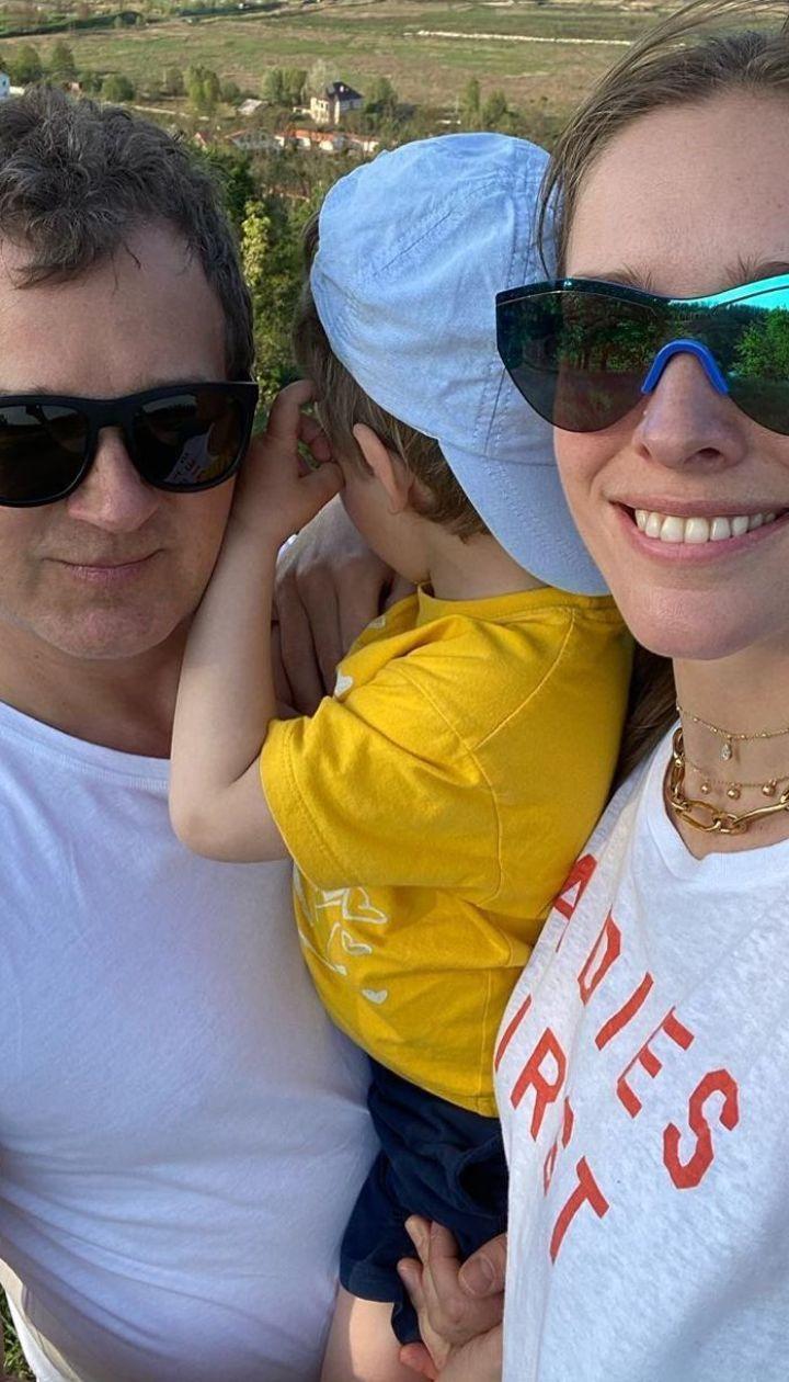 Юрий Горбунов и Катя Осадчая с сыном