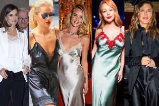 Чотири роки в нічних сорочках: зіркові прихильниці білизняного стилю