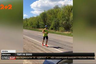 В Ровно мужчина из-за пари пробежал из Луцка в Ровно менее чем за 7 часов