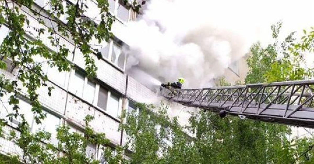 В Киеве в Святошинском районе горела многоэтажка