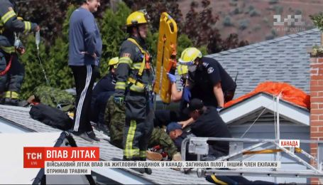 Совершая полет в честь врачей, военный самолет упал на жилой дом в Канаде