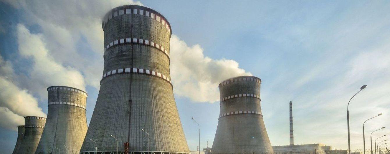 Щеодин енергоблок Рівненської АЕС відключили від енергомережі