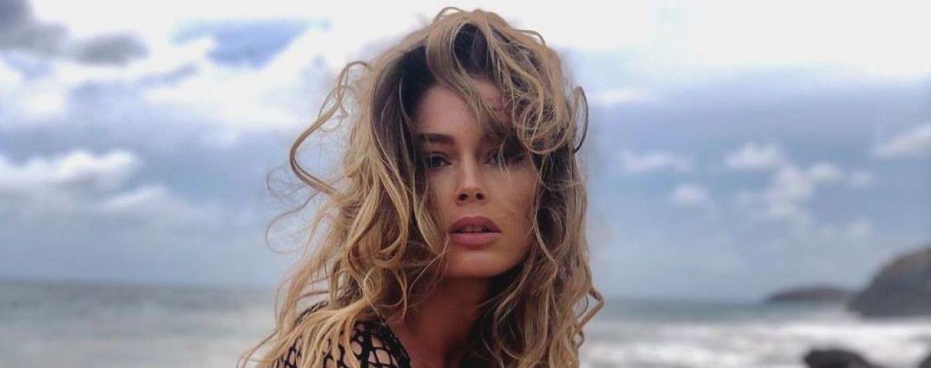 Позировала на пляже: Даутцен Крус в топе-сетке сверкнула соском