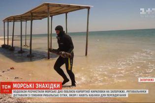 Перед купальним сезоном водолази розчистили морське дно поблизу курортної Кирилівки